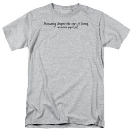 Cost Of Living Short Sleeve Adult Athletic T-Shirt