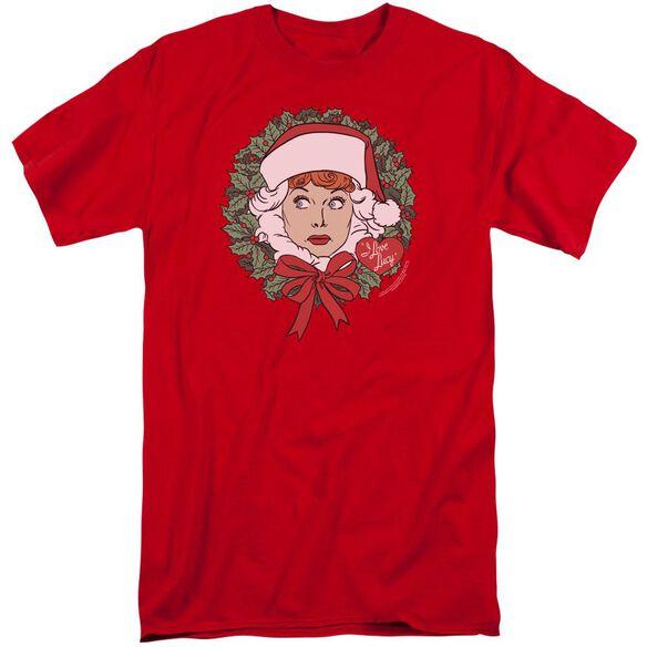 I Love Lucy Wreath Short Sleeve Adult Tall T-Shirt