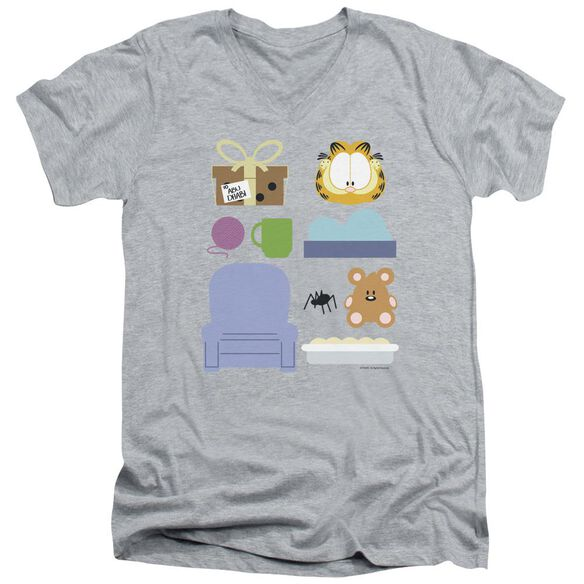 GARFIELD GIFT SET-S/S ADULT V-NECK T-Shirt