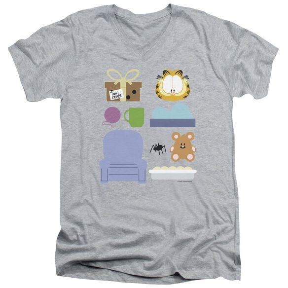 GARFIELD GIFT SET-S/S ADULT V-NECK T-Shirt