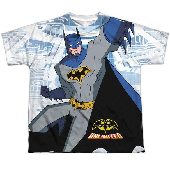 Batman Unlimited Tech Cave Short Sleeve Youth Poly Crew T-Shirt