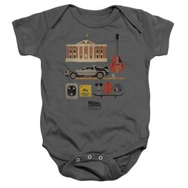 Back To The Future Items Infant Snapsuit Charcoal