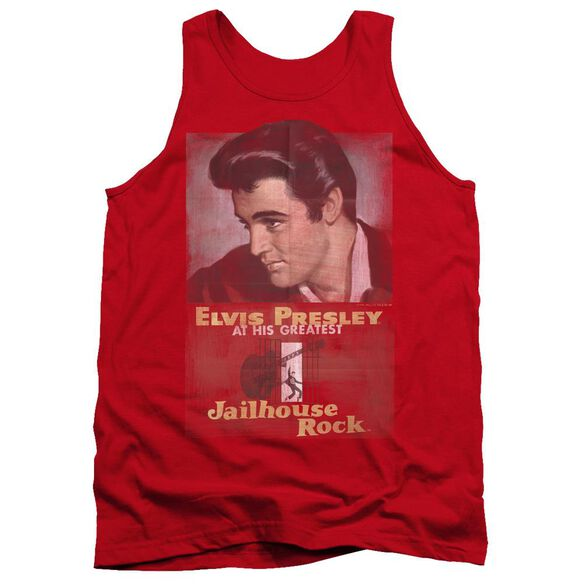 Elvis Presley Jailhouse Rock Poster - Adult Tank - Red