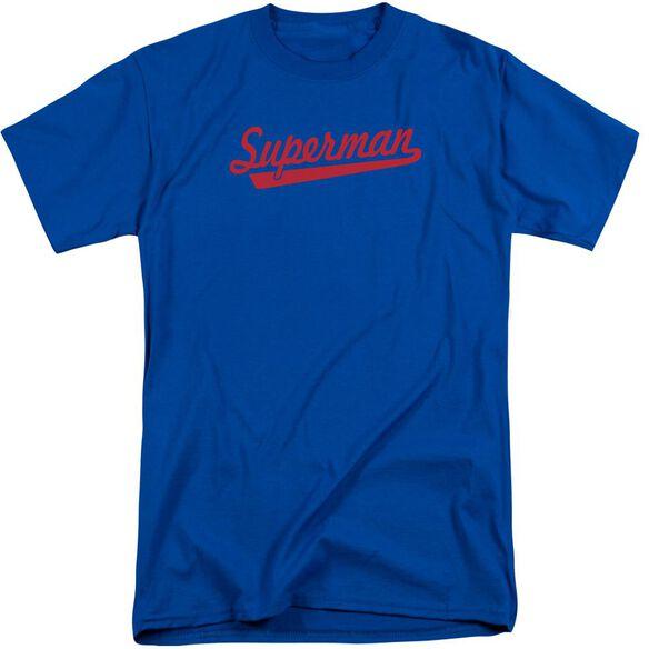 Superman S Tail Short Sleeve Adult Tall Royal T-Shirt