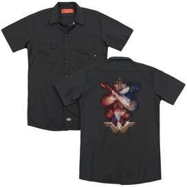 Wonder Woman Movie Arms Crossed (Back Print) Adult Work Shirt