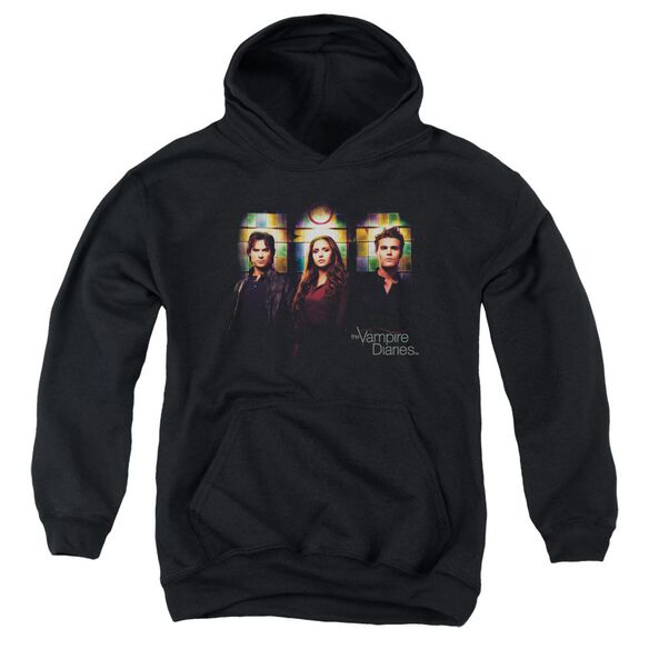 Vampire Diaries Stained Windows Youth Pull Over Hoodie