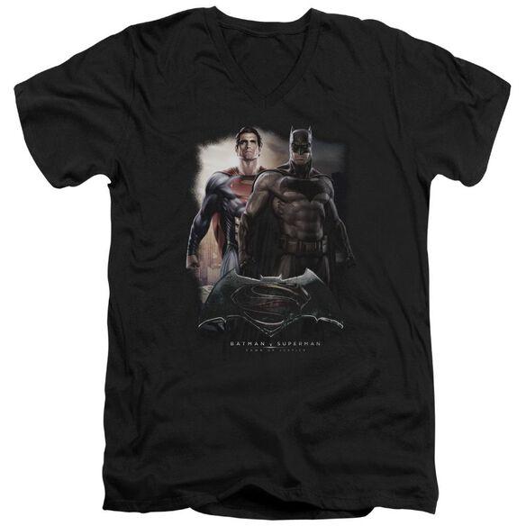 Batman Vs Superman Dawn Short Sleeve Adult V Neck T-Shirt