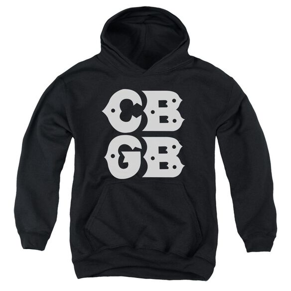 Cbgb Stacked Logo Youth Pull Over Hoodie