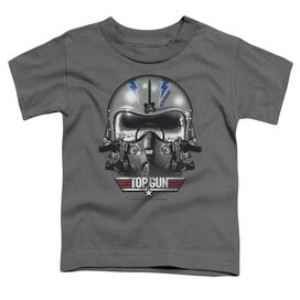 Top Gun Iceman Helmet Short Sleeve Toddler Tee Charcoal Sm T-Shirt