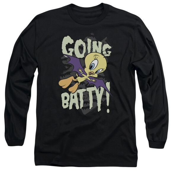 Looney Tunes Going Batty Long Sleeve Adult T-Shirt