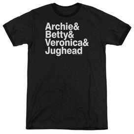 Archie Comics Ampersand List - Adult Heather Ringer - Black