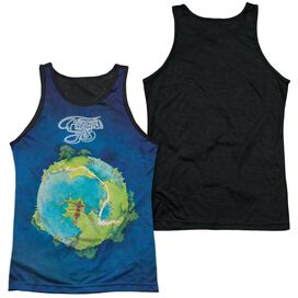Yes Fragile Adult Poly Tank Top Black Back