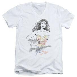 DCO JLA WONDER SQUIGGLES - S/S ADULT V-NECK T-Shirt