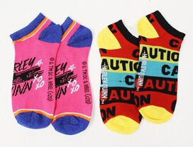 Birds of Prey Harley Quinn Low-Cut Socks [2 Pairs]
