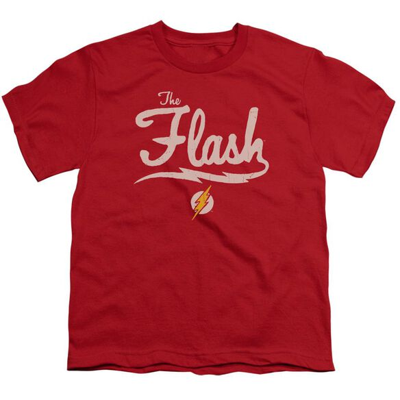 Jla Old School Flash Short Sleeve Youth T-Shirt