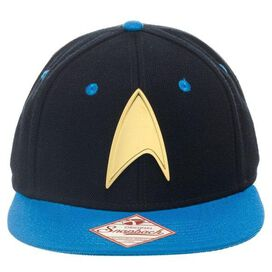 Star Trek Gold Badge Blue Visor Snapback Hat