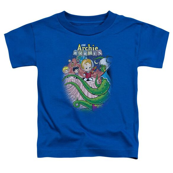 Archie Babies Babies In Space Short Sleeve Toddler Tee Royal Blue Sm T-Shirt