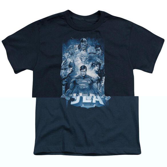 Jla Burst Short Sleeve Youth T-Shirt