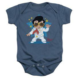 Elvis Presley Jumpsuit - Infant Snapsuit - Indigo