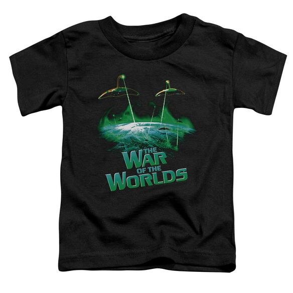War Worlds Global Attack Short Sleeve Toddler Tee Black Sm T-Shirt