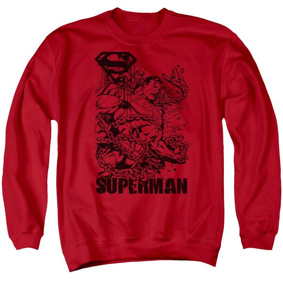 Superman Breaking Chains - Adult Crewneck Sweatshirt