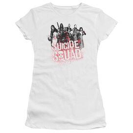 Suicide Squad Squad Splatter Short Sleeve Junior Sheer T-Shirt