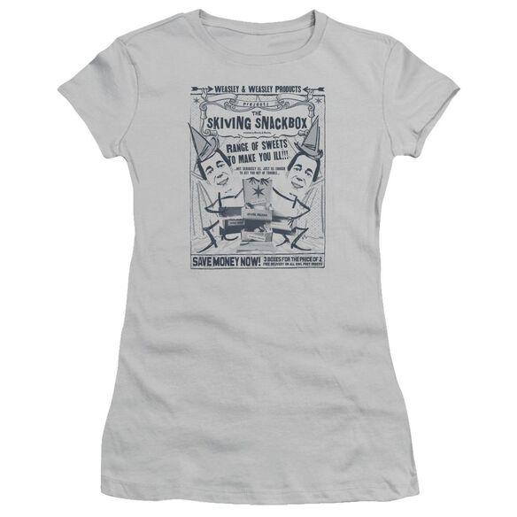 Harry Potter Skiving Snackbox Hbo Short Sleeve Junior Sheer T-Shirt