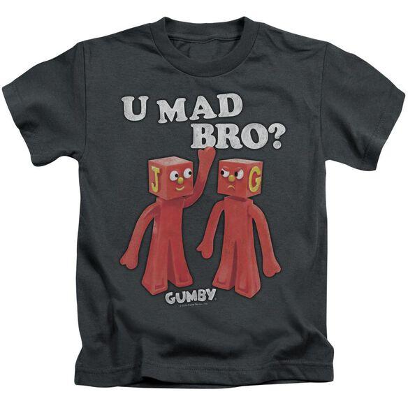 GUMBY U MAD BRO - S/S JUVENILE 18/1 - CHARCOAL - T-Shirt