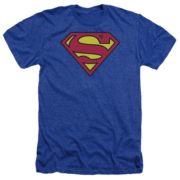 Superman Classic Logo Adult Heather Royal
