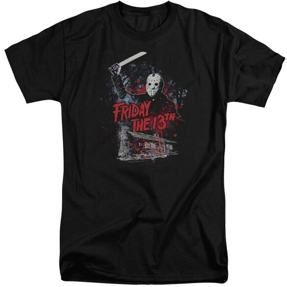 Friday The 13 Th Cabin Short Sleeve Adult Tall T-Shirt