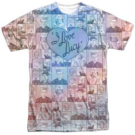 I Love Lucy Many Moods Short Sleeve Adult Poly Crew T-Shirt