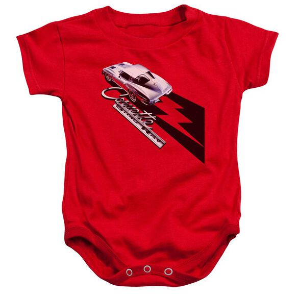 Chevrolet Split Window Sting Ray Infant Snapsuit Red