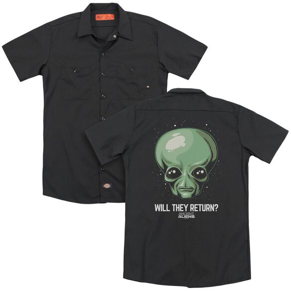 Ancient Aliens Will They Return (Back Print) Adult Work Shirt