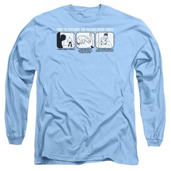 St:Original Vulcan Nerve Pinch Long Sleeve Adult Carolina T-Shirt