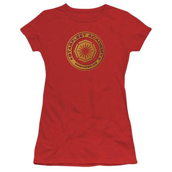 Star Trek Engineering Short Sleeve Junior Sheer T-Shirt