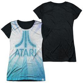 Atari Burst Logo Short Sleeve Junior Poly Black Back T-Shirt