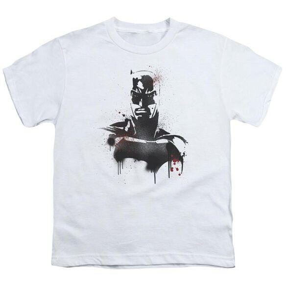 Batman V Superman Batman Spray Short Sleeve Youth T-Shirt