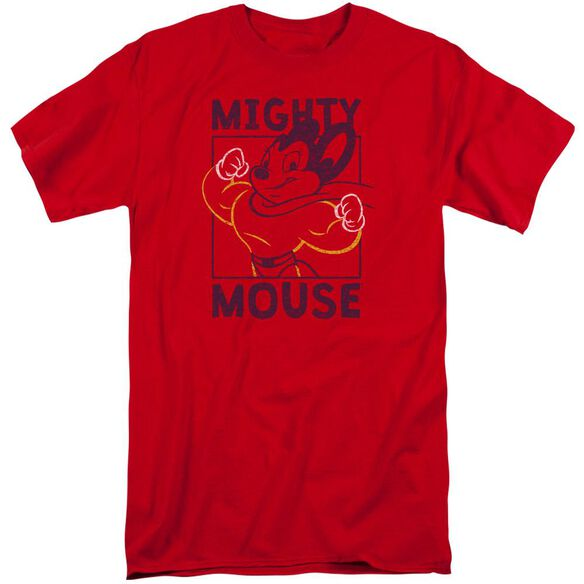 Mighy Mouse Break The Box Short Sleeve Adult Tall T-Shirt