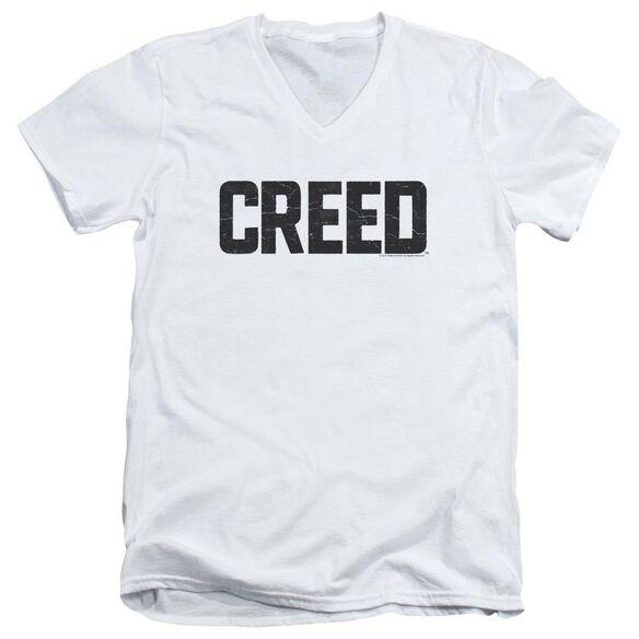 Creed Cracked Logo Short Sleeve Adult V Neck T-Shirt