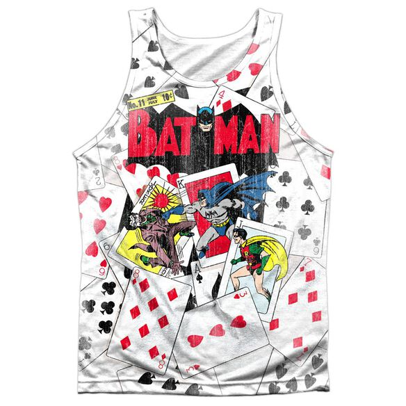 Dc Number 11 All Over - Adult 100% Poly Tank Top - White
