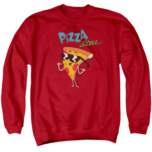 Uncle Grandpa Pizza Steve Adult Crewneck Sweatshirt