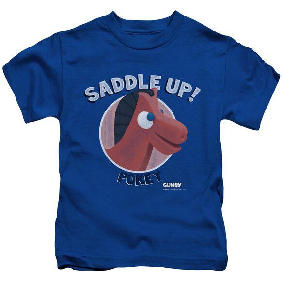Gumby Saddle Up Short Sleeve Juvenile Royal T-Shirt