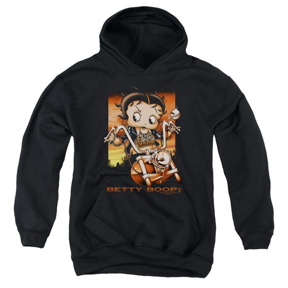 Betty Boop Sunset Rider Youth Pull Over Hoodie
