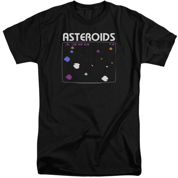 Atari Asteroids Screen Short Sleeve Adult Tall T-Shirt