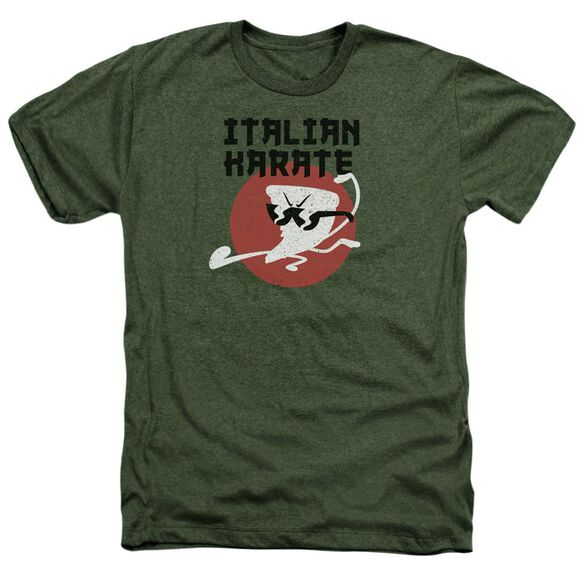 Uncle Grandpa Italian Karate Adult Heather Military
