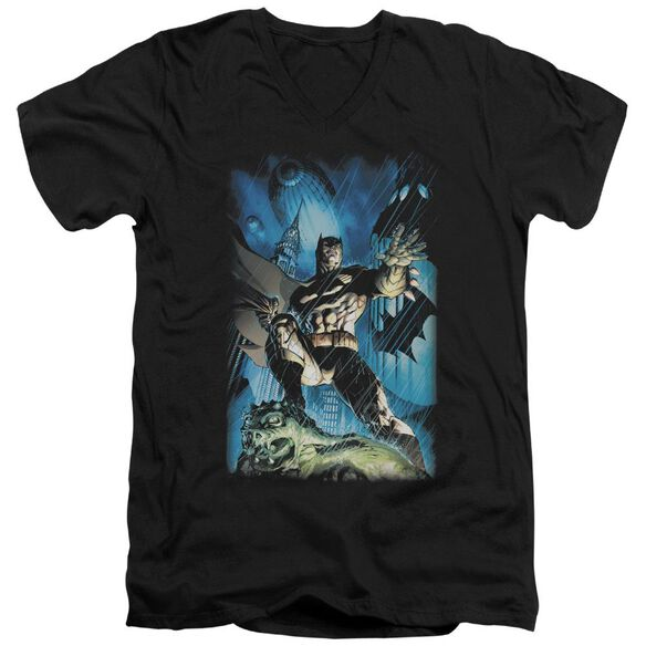 Batman Stormy Dark Knight Short Sleeve Adult V Neck T-Shirt