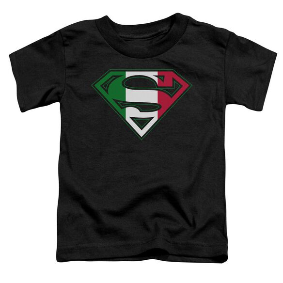 SUPERMAN ITALIAN SHIELD - S/S TODDLER TEE - BLACK - T-Shirt