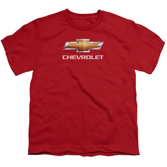 Chevrolet Chevy Bowtie Stacked Short Sleeve Youth T-Shirt
