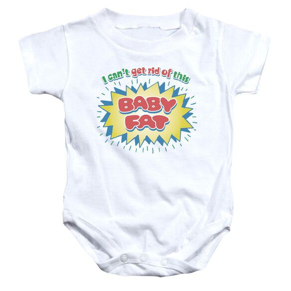 Baby Fat Infant Snapsuit White Md