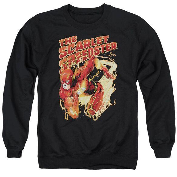 Jla Scarlet Speedster Adult Crewneck Sweatshirt